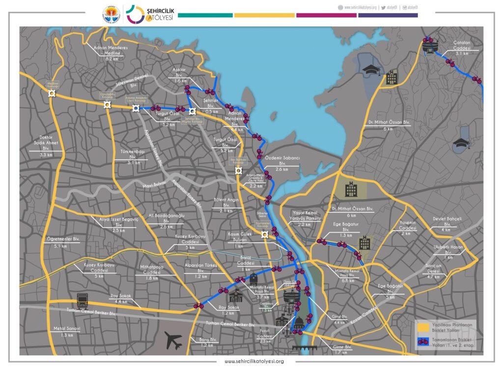 Bisiklet Yolları Haritası